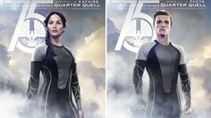 Exclusive 'Catching Fire' Posters Reveal Katniss and Peeta's New Form-Fitting Costumes Full Trailer on SATURDAY! Katniss Und Peeta, Katniss Everdeen, Mockingjay, The Hunger Games, Hunger Games Trilogy, Movie Talk, I Movie, Tribute Von Panem, Quarter Quell