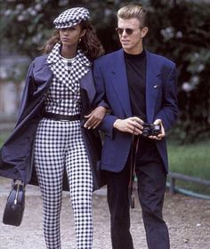 David Bowie and Iman uploaded by rthatsme on We Heart It Iman Bowie, Iman And David Bowie, David Bowie Fashion, Mick Jagger, Rod Stewart, Mayor Tom, Bowie Starman, New Retro Wave, The Thin White Duke