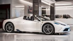 Awesome white & blue 458 Speciale Aperta