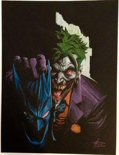 Joker by Gabriele Dell'Otto Le Joker Batman, Joker Comic, Joker And Harley Quinn, Batman And Superman, Comic Book Artists, Comic Artist, Comic Books Art, Marvel Comics, Jokers Wild