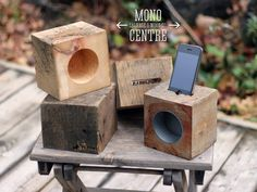 RAD block acoustic iphone dock by MCSWCo on Etsy