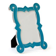 love this frame from Jonathan Adler.  also comes in orange, red, lime, black, and white $68