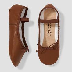 f6eb14a81fb7 Freestyle by Danskin Girls  Ballet Shoe - Brown 12