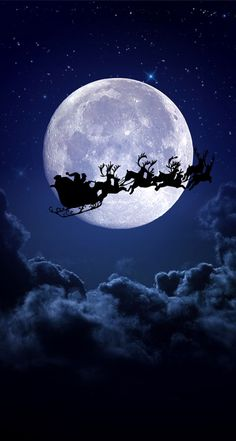 Christmas night moon - Wallpaper