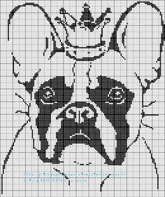 Mon loulou me demande une grille de Bulldog, bon ben pourquoi pas, voici la grille que j'ai donc réalisé à sa demande :         Et je l'ente...