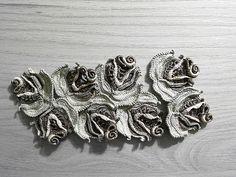 Asia Verten – Цветы на песке. Irish crochet. Ирландское кружево