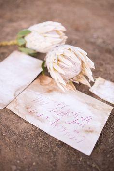 Romantic hand letter