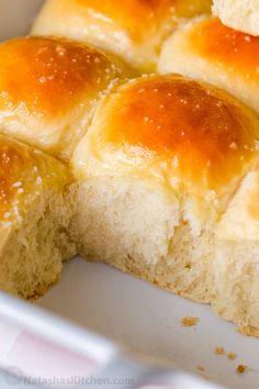 Sweet Dinner Rolls, Homemade Dinner Rolls, Dinner Rolls Recipe, Gourmet Recipes, Baking Recipes, Bread Recipes, Kitchen Recipes, Soft Rolls Recipe, Creamy Potato Bake