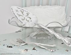 Personalize Your Own Forks and Cake Server Wedding Set
