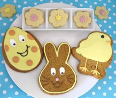 Decorated Easter cookies