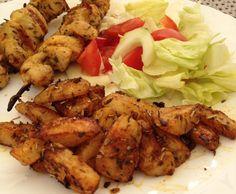 Rezept Kartoffelecken mit Hähnchenspieße von gala0815 - Rezept der Kategorie Hauptgerichte mit Fleisch