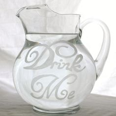 etched glass pitcher--perhaps after the kids get bigger and don't break my…