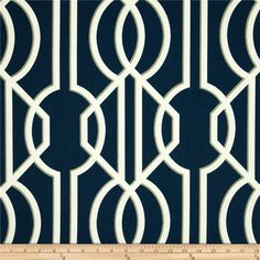 Magnolia Home Deco Navy from @fabricdotcom  Screen printed on cotton duck; this versatile, medium weight fabric is perfect for window accents (draperies, valances, curtains and swags), accent pillows, duvet covers, upholstery and other home decor accents. Create handbags, tote bags, aprons and more. Colors include ivory, grey and navy blue.