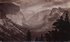 GEORGE FISKE  1835 - 1918 Yosemite Valley during a Storm, ca. 1880