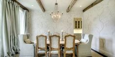 Beautiful and Chic Dining Room - traditional - Dining Room - Other Metro - Quatrine Custom Furniture