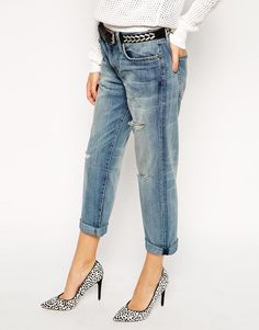 Current/Elliott | Current Elliott Super loved Boyfriend Jeans With Distressing at ASOS