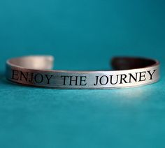 Enjoy the Journey Bracelet Graduation Gift for a by neonbison