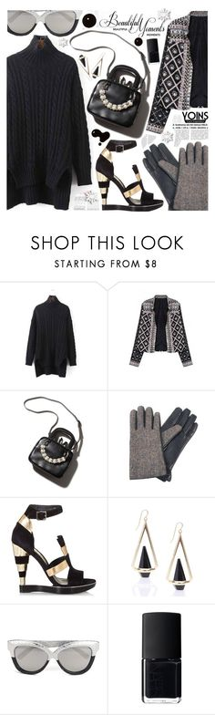 """Yoins I"" by pastelneon ❤ liked on Polyvore featuring Salvatore Ferragamo, Linda Farrow, NARS Cosmetics and vintage"