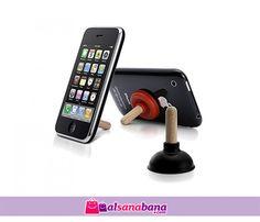 Iplunge Iphone Standı Minyatür Pompa Video izlerken ya da müzik dinlerken artık cep telefonunuzu tutmanıza gerek yok, bu minyatür pompayı cep telefonunuzun arkasına vakumuyla yapıştırın, o sizin için tutsun.