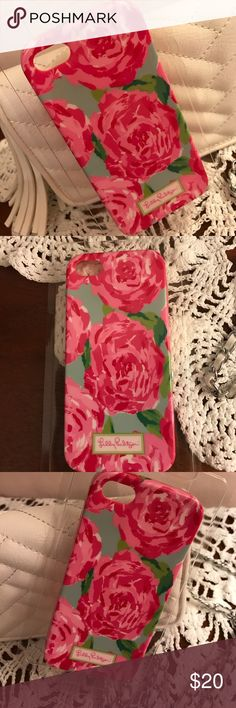 Lilly Pulitzer IPhone 5 or 5s case Cute & classic Lilly silicone iPhone case. Fits a 5 or a 5s. Lilly Pulitzer Accessories Phone Cases