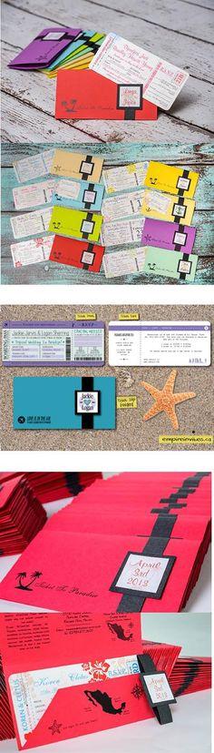 5⭐ Custom Online Destination boarding pass wedding invitations, from Winnipeg, Canada ships to Toronto, Halifax, Calgary, Vancouver, Edmonton, Ottawa & worldwide
