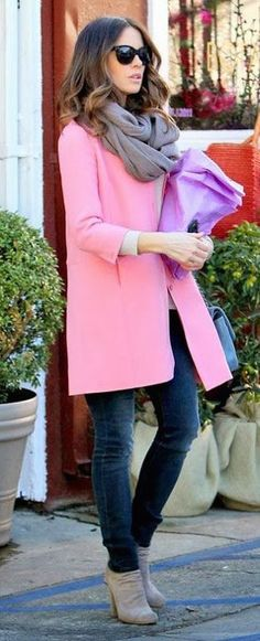 #fall #fashion / pink coat
