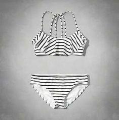 strappy ruffle two-piece swimsuit from Abercrombie Kids. Shop more products from Abercrombie Kids on Wanelo. Trendy Swimwear, Kids Swimwear, Cute Swimsuits, Cute Bikinis, Two Piece Swimsuits, Bikini Swimwear, Sexy Bikini, Bikini Set, Bathing Suits For Teens