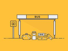 Bus Stop by Aaron Torrez on Dribbble