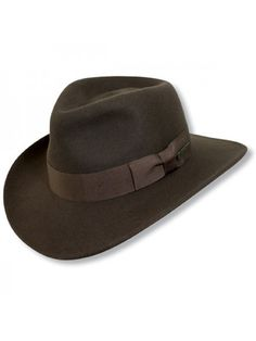 22a8c78eaf3 Indiana Jones Hats Crushable Indiana Jones™ - Soft Wool Felt Fedora Hat
