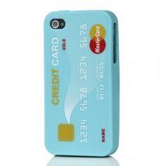 iPhone 4 sininen luottokortti silikonisuojus. Iphone 4, Apple Iphone, Nintendo Wii Controller, Console, Phone Cases, Cards, Maps, Playing Cards
