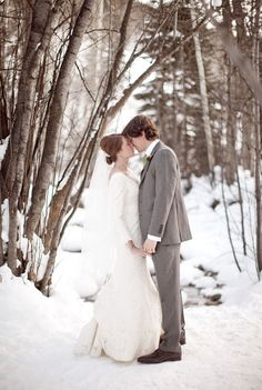 Retro Weddings: These marriages are dreaming: The elegance of winter Grooms