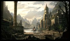 Gnomon Workshop Tutorial, environment painting, Raphael Lacoste on ArtStation at http://www.artstation.com/artwork/gnomon-workshop-tutorial-environment-painting
