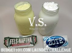 Fels Naptha vs Zote - the true laundry challenge! The Super Laundry Sauce Challenge- check out the stunning results! (Click on photo for more)