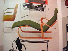 http://1inchminisbykris.blogspot.com/ MARCEL BREUER LONG CHAIR TUTORIAL - How to make a Marcel Breuer Long Chair from card stock.