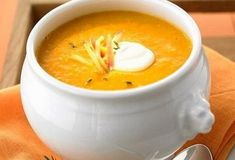 A comforting easy pumpkin soup recipe made with simple pantry staple ingredients. This pumpkin soup is a cinch to make and so, so, delicious! Irish Recipes, Greek Recipes, Apple Recipes, Soup Recipes, Healthy Eating Recipes, Vegan Recipes, Cooking Recipes, Spicy Pumpkin Soup, Sea Weed Recipes