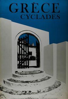 Vintage Travel Poster - The Cyclades - Greece. Mykonos, Santorini, Vintage Advertisements, Vintage Ads, Old Posters, Tourism Poster, Vintage Travel Posters, Greece Travel, Europe