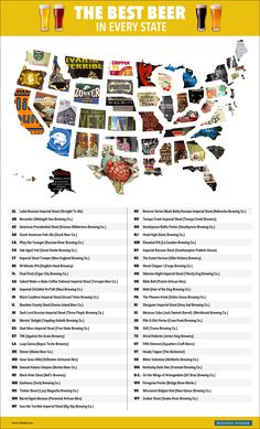"US Beer Map Best Beer In Each Sate www.LiquorList.com ""The Marketplace for Adults with Taste!"" @LiquorListcom  #LiquorList"