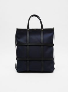 $200 Mismo Grid Shopper Navy Black
