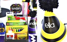 Colorful Crayon Themed Birthday Party