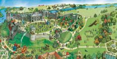 Warwick Castle - map & overview