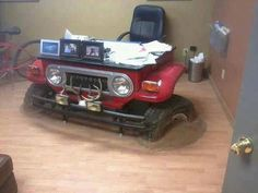 """Toyota fj40 desk  My friend Ben would love one of these, I'm sure a """"troopy"""" version would be better but those are rarer still."""