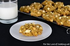 Pumpkin-Oatmeal Cookies with White Chocolate Chips