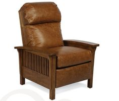 Barcalounger Leather Mission Style Leather Recliner | Craftsman II 4411 Series