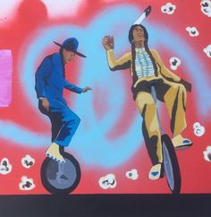 fhyd30_Frank Buffalo Hyde_Two Utes on a Unicycle_acrylic  kp