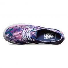 Vans Authentic Slim Shoes (Multi Paint) Purple