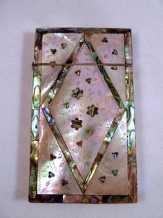 Victorian Mother of Pearl Calling Card Case