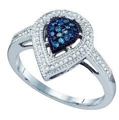 Blue Diamond Engagement Rings | Blue Diamond Wedding Rings Under 500 us dollars-Blue diamond rings ...