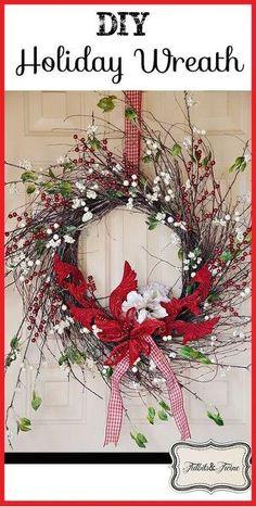 diy christmas wreath so easy, christmas decorations, crafts, wreaths
