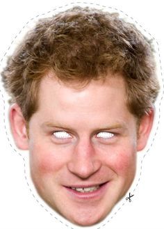 Free Prince Harry Cut Out Printable Mask #free #printable
