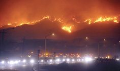 California wild fires - image of another natural disaster in the US.  Great image for the classroom.